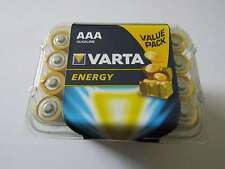 24x AAA energy batería metales alcalinos manganeso lr03 1260mah 1,5v ar4374 Varta