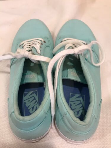 e98c4f523bf813 4 of 8 VANS Canvas Sneakers Womens Size 8 Mint Green Not Sure of Style