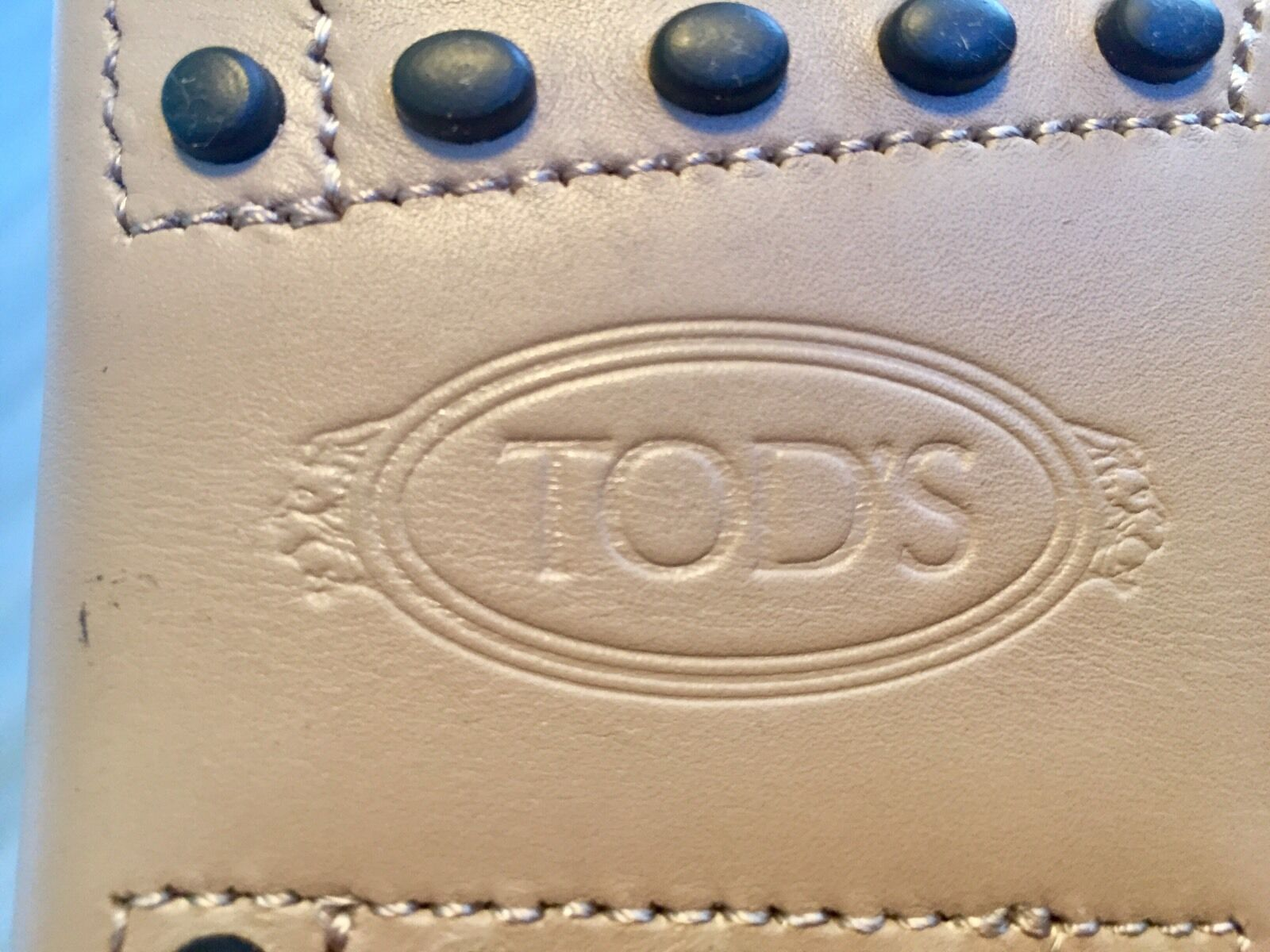 550  Tod's Tod's Tod's Drivers Light Tan Gommino Size US 12 Made In Italy 9fec07