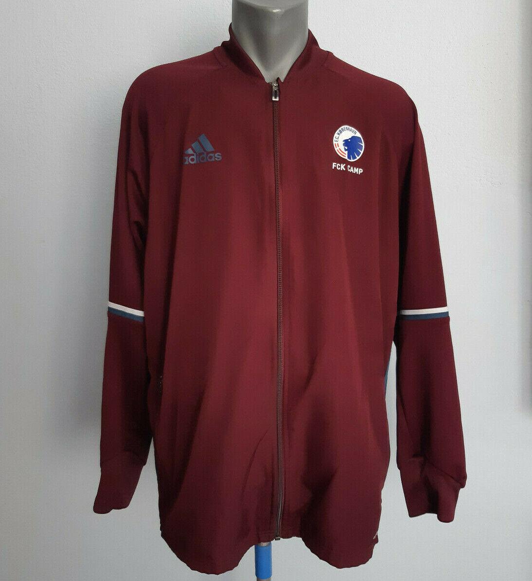 FC Copenhagen Training Jacket Adidas Full Zip Burgundy Red Size XL Track Suit
