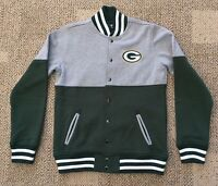 Nfl Team Apparel Green Bay Packers Kids Youth Medium Snap Front Jacket K-8805f