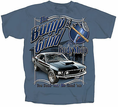 Ford Mustang T-shirt  - Bump & Grind Bodyshop 1969 Boss 429 great christmas gift