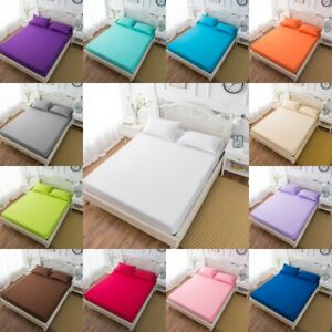 Brushed-Microfiber-Fitted-Sheet-Bed-Sheets-Set-Bedding-Ultra-Soft-Hypoallergenic