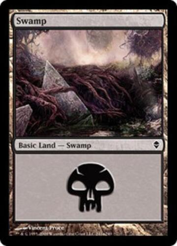 SP//NM Swamp 20 Basic Land #241a Zendikar Magic MTG FTG SAME ART