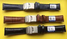 Bracelets De Montre 18mm Lot 3 Couleurs Différentes ,Cuir , Boucle Déployante-,.