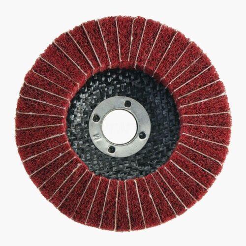 120//240 Nylon Polishing Flap Wheel Disc Grit Fiber Abrasive Buffing Pad 100mm