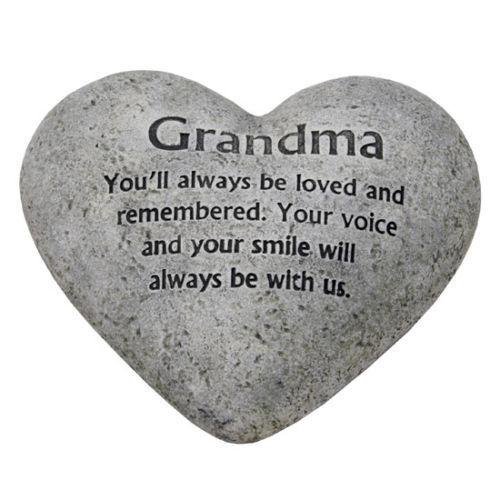 Au cœur aimant mémoire Graveside Plaque Pierre-grand-mère grave Memorial