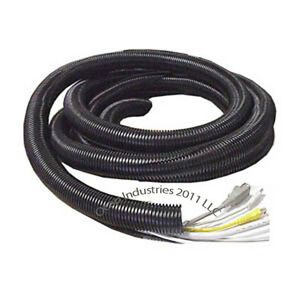 Ft Sea Ray 123-1140 Mpi 1-1//4 Inch Id Black Boat Split Wire Loom