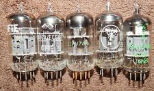 5 PIECES * WORLDS BEST 12AU7 ECC82 TUBES EVER MADE! *NOS EUROPEN RT / CIFTE GOLD
