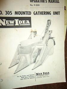 Heavy Equipment Manuals & Books NEW IDEA 307 MOUNTED HUSKING UNIT ...