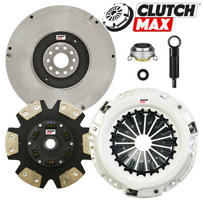6-Puck Clutch Disc Stage 2; 2WD; 4WD Clutch Kit Compatible With Xterra Frontier Base Xe Crew Sport Extended Cab Pickup 2000-2004 2.4L L4 GAS DOHC Naturally Aspirated