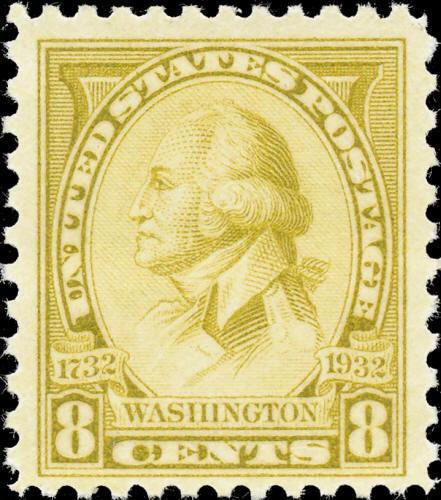 1932 8c Washington, Charles B. J. F. Saint Memin, Olive