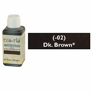 Eco-Flo-Professional-Waterstain-Dark-Brown-250-ml-8-5-fl-oz-2800-02-Tandy-Dye