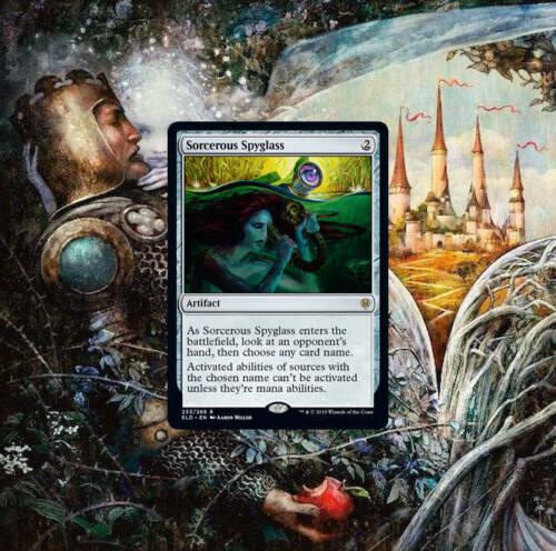 Magic the Gathering Sorcerous Spyglass Throne of Eldraine