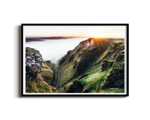 Peak District Print Landscape Photography Large Canvas Wall Art Winnats Pass