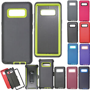 huge selection of 8c6bb 87c5f Details about For Samsung Galaxy Note 5 8 S9 + Case Cover Belt Holster fits  Otterbox Defender