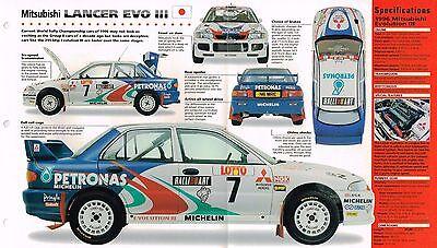 Hart Arbeitend 1995/1996 Mitsubishi Lancer Evo Iii Spezial Folie Broschüre Noch Nicht VulgäR Automobilia
