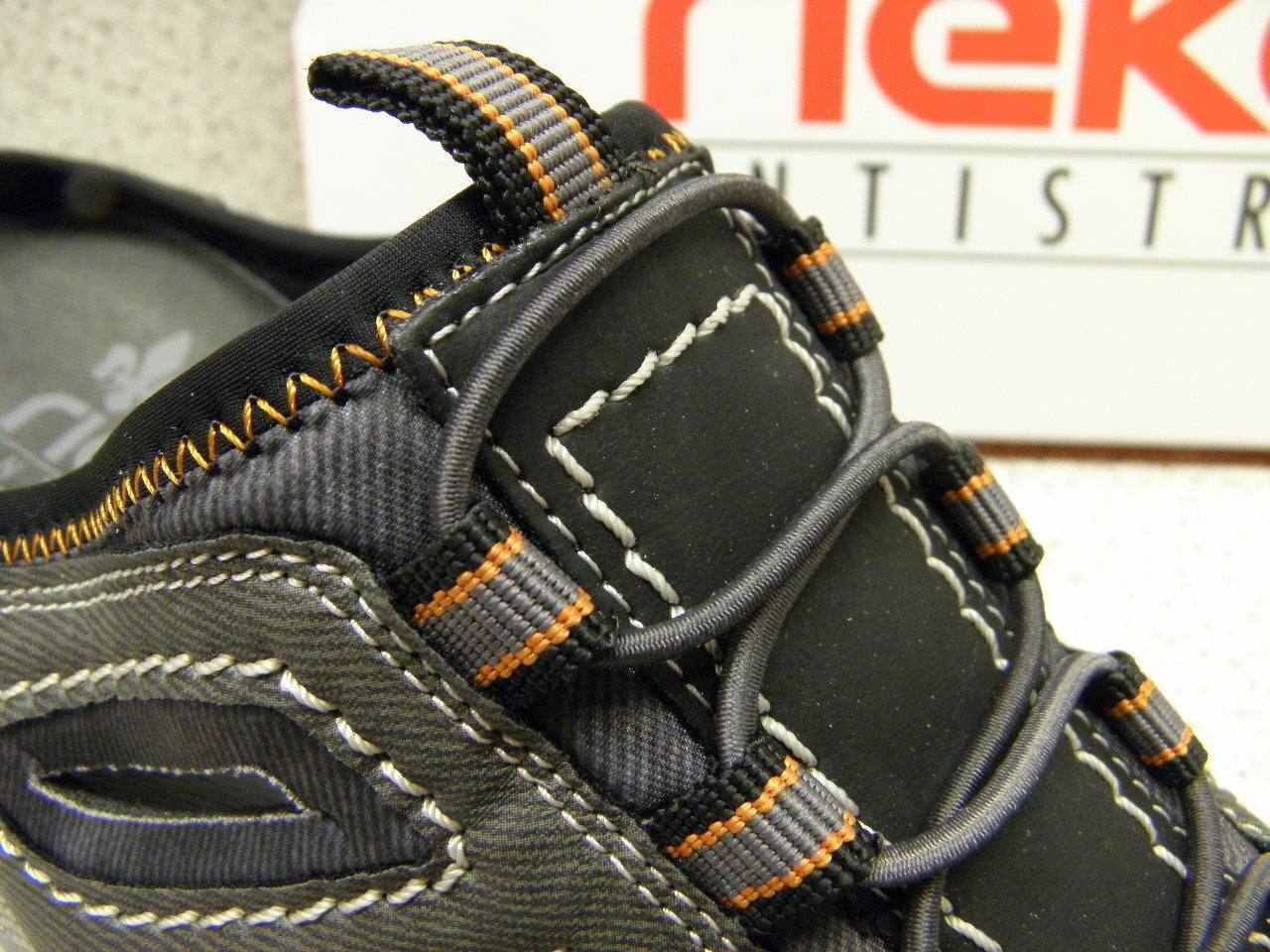 rieker ® SALE reduziert  Clog Pantolette grau + gratis Premium - Socken (R433)