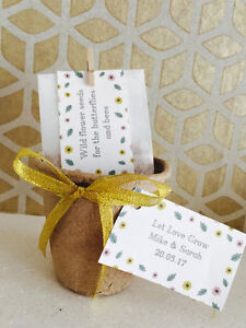Image Is Loading Handmade Amp Personalised Wildflower Seed Pot Wedding Favour