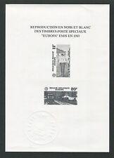BELGIEN SCHWARZDRUCK EUROPA CEPT 1983 BELGIUM BLACK PRINT RARE !! z1545