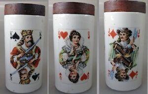 Verarbeitung In KöStlich Spardose Dondorf Spielkarten Sgrafo Modern Porzellan 35253 Exquisite