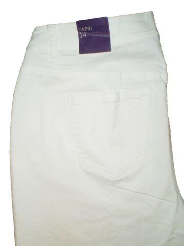 Lane Bryant Women/'s Capri Cropped White Stretch Denim Jeans Plus Size New $60