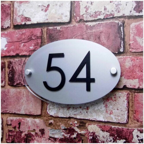 Customized Modern HOUSE NUMBER Sign Door Apartment Plaque Plate Street Address