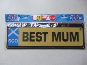 Details about Funny warning signs with suction cup - metal - ( SCO _ Best  Mum )