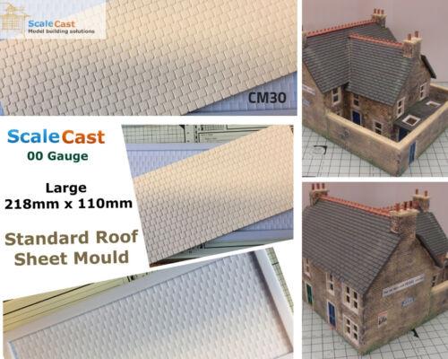 OO//HO Gauge Model Railway Scenery CM30 Standard Slate Roof Large Sheet Mould