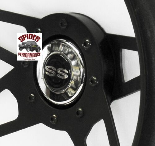 "1968 Camaro steering wheel SS 13 1//2/"" BLACK 4 SPOKE"