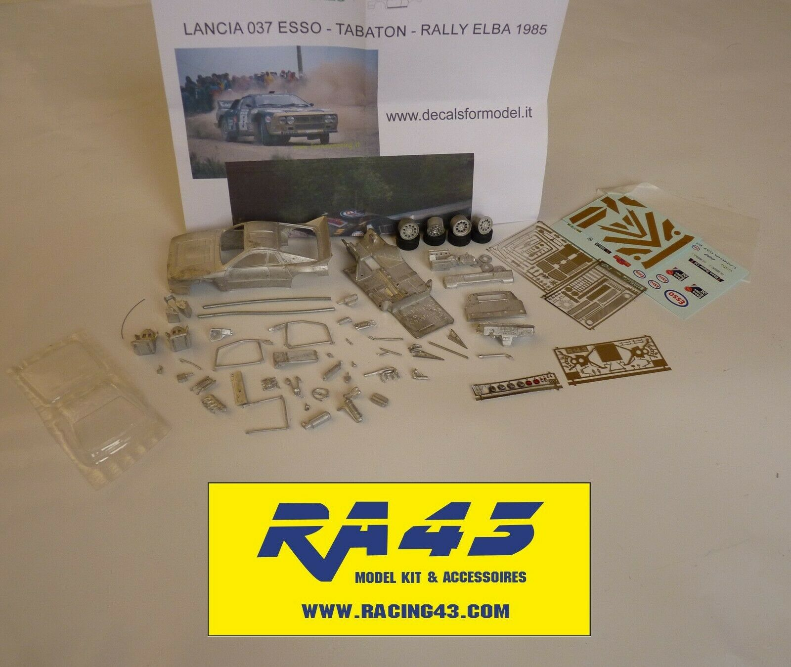 1 43 Lancia 037 Rally Isola d'Elba 1985 Tabaton Esso Kit