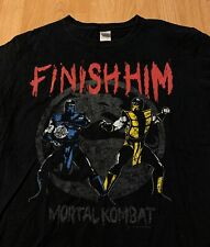 Mortal Kombat Parody Emergency Kosplay Sub-Zero And Scorpion Funny Black T-Shirt