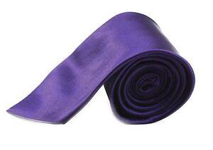 CHEAP-8CM-MENS-DARK-PURPLE-TIE-Necktie-Neck-Tie-Ties-Wedding-Formal-Bargain