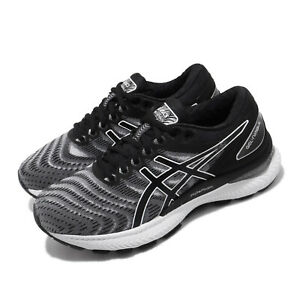 Asics-Gel-Nimbus-22-2E-Wide-White-Black-Men-Running-Shoes-Sneakers-1011A685-100