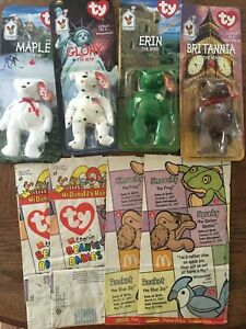 960bf602cfd NIP McDonalds Happy Meal Toy TY Teenie Beanie Babies All 4 Collector ...