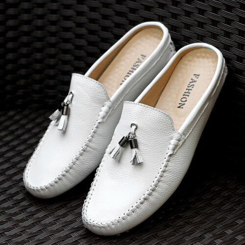 Men/'s Slippers Tassels Casual Flats Mules Loafers Slip On Gommino Driving Shoes