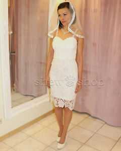 Brautkleid Spitze Kurz Hochzeitskleid X S M L Xl Xxl Braut Kleid