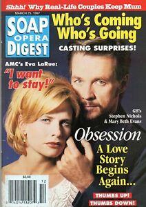 SOAP OPERA DIGEST March 25 1997 Stephen Nichols Mary Beth Evans Rebecca Budig