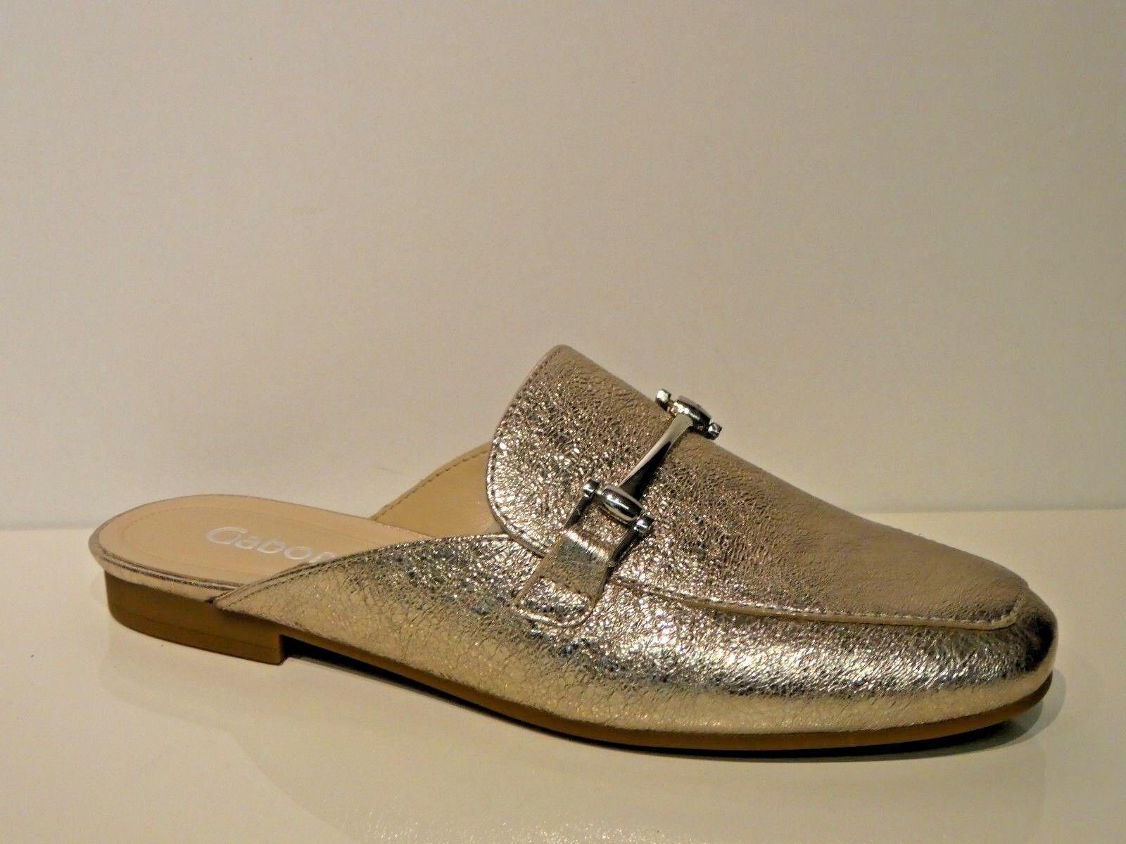 Gabor Sandalen Slipper Clogs Sabots Mules Loafers muschel Crash metallic Leder