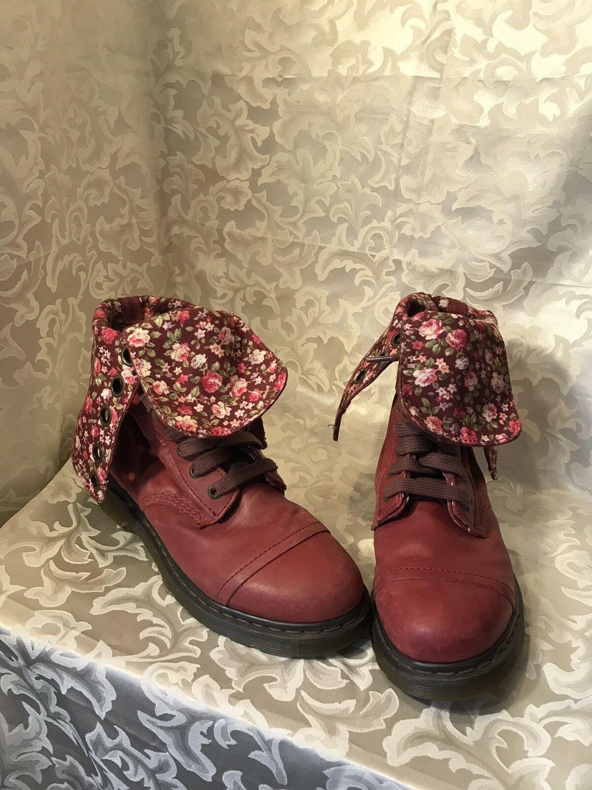 Dr Martens Airwair triunfo botas Mujer Talla 11US 43 9 9 9 Rojo Cereza Floral baje  barato y de alta calidad