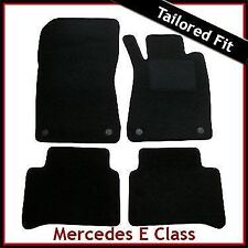 Tailored Carpet Floor Mats for MERCEDES E-Class W211 2002-2009 BLACK