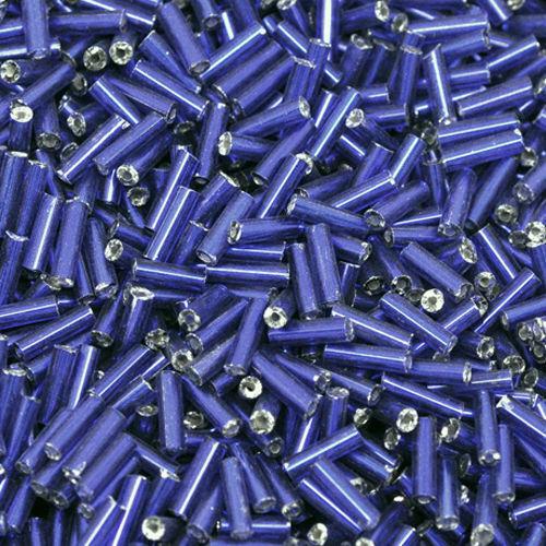 550 Rocailles-lápices 7mm tubos azul oscuro abalorios Tube rocaillesperlen nuevo