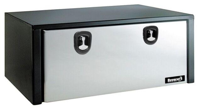 "Buyers Black Steel 24/"" X 24/"" X 30/"" Underbody ToolBox 1704303"
