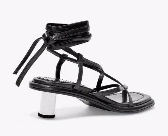 Proenza schouler Strappy Mid Heel Sandals Wrap Tie Ankle Open Toe Size 40 New