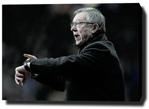 Image is loading SIR-ALEX-FERGUSON-CANVAS-PRINT-POSTER-PHOTO-WALL- & SIR ALEX FERGUSON CANVAS PRINT POSTER PHOTO WALL ART MANCHESTER MAN ...
