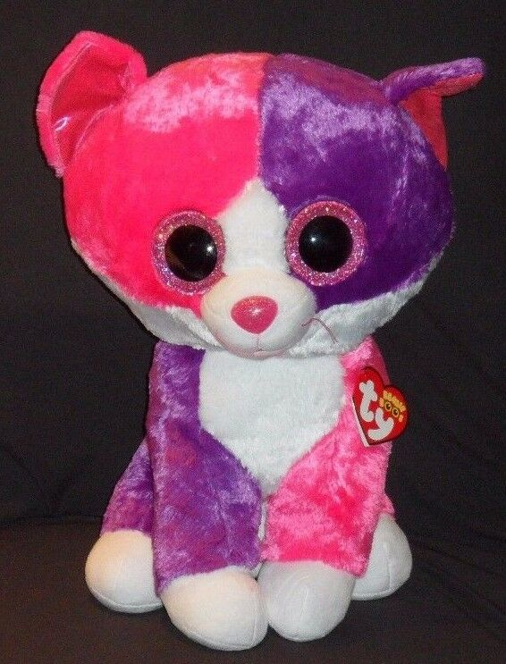 TY BEANIE BOOS - PELLIE PELLIE PELLIE the LARGE 16  CAT - CLAIRE'S EXCLUSIVE -MINT w  MINT TAG b8113c