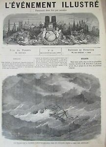 Steam-Ship-Boat-Fire-Geneve-Leaping-Journal-Milestone-Illustre-No-No-56-of-1871