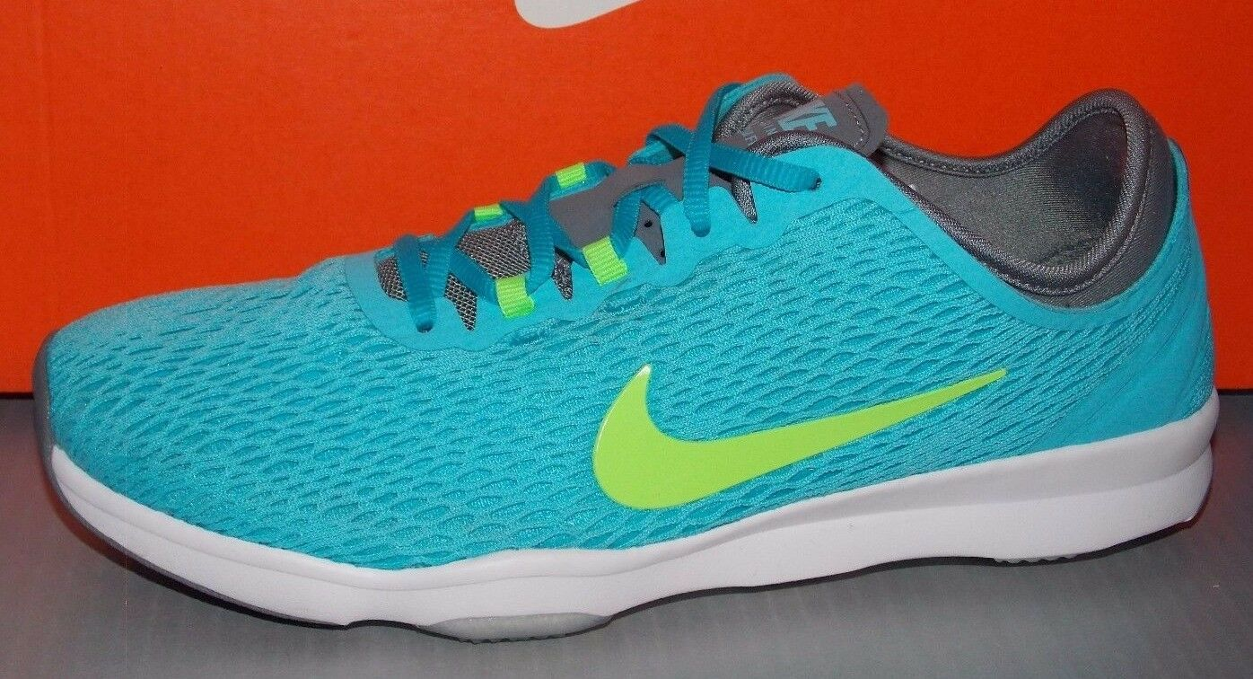 WMNS NIKE ZOOM FIT in colors CLEARWATER   LIME   GREY   WHITE SIZE 8