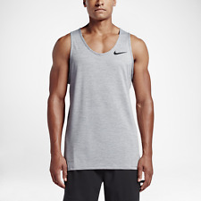 Nike Men's Training Tank Top XL Gray Black Gym Casual Running Sleeveless New
