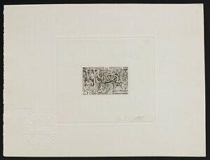 Senegal 1960 Guib/ Bushbuck sc#199 Sunken die proof signed -1st issues Republic